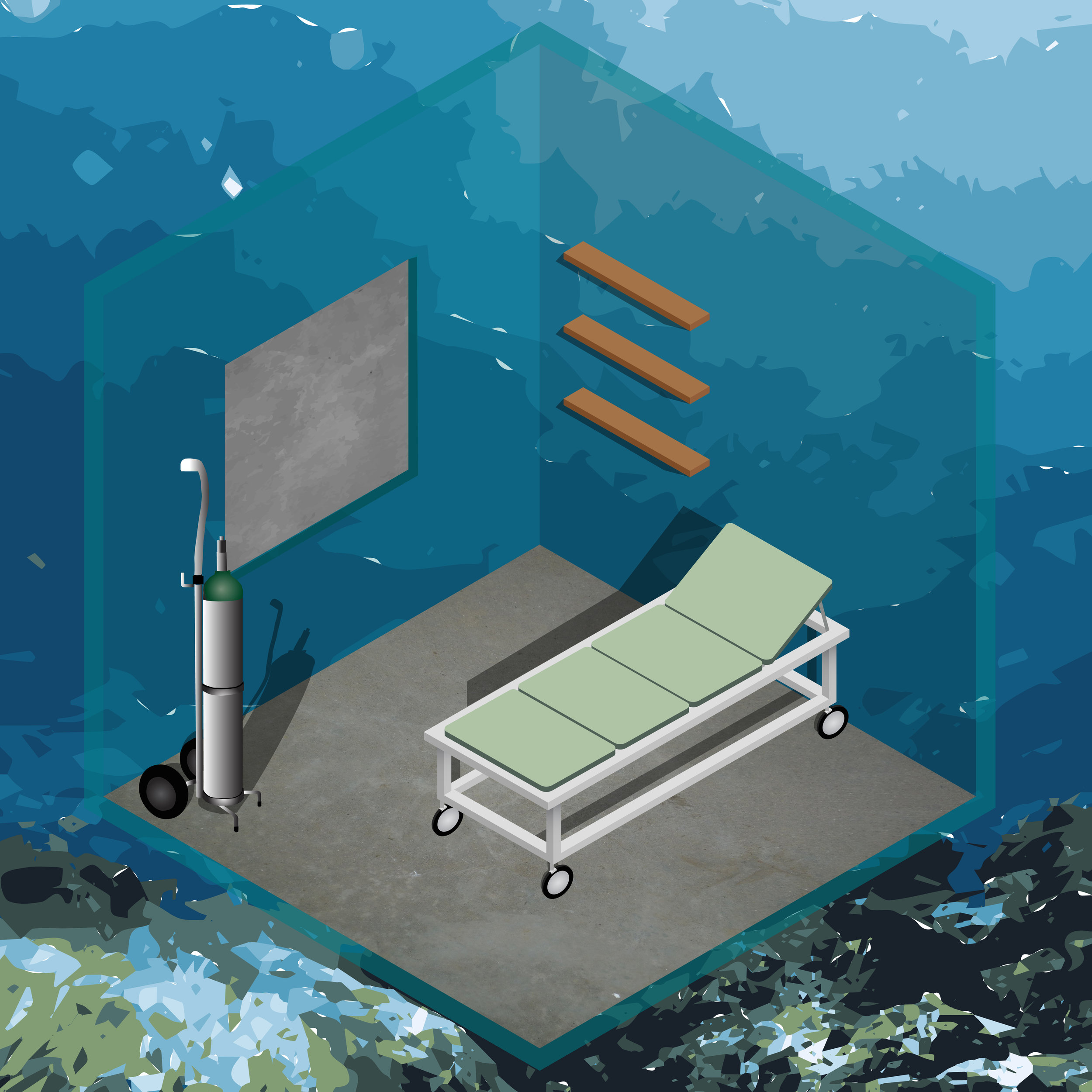 Room for Rent: Semi uninterrupted ocean views. Oxygen tank included for free. Ps. By signing the contract tenant agrees that:    - The landlord is not responsible for any water leaks and / or shark attacks.    - Resident approves to partake in any underwater living research conducted on him/her