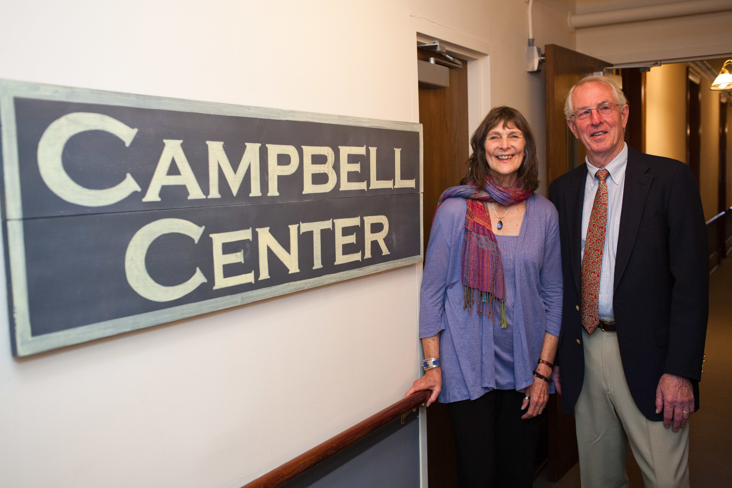 Benefactors Marion and Sandy Campbell