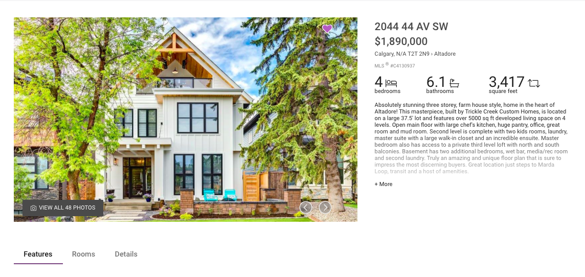 MLS® Search - Example of Detailed Listing View