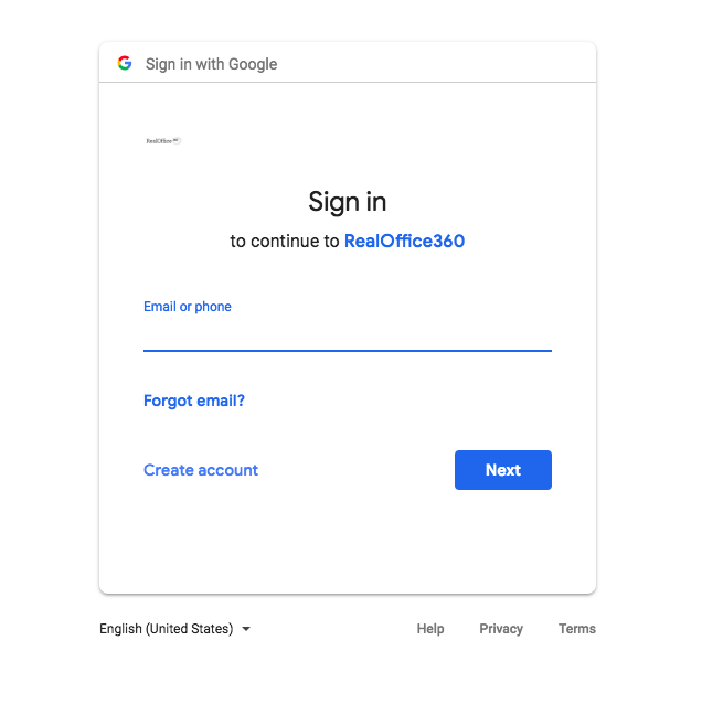 Step 1: Enter your email address you wish to sync your Google Contacts