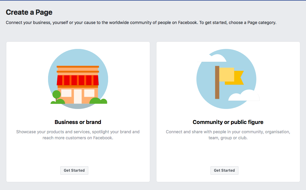 Selecting Business for Facebook Real Estate Business Page