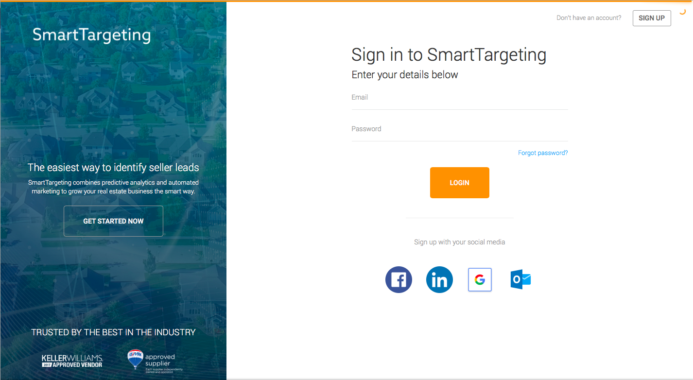 Smartzip Admin Login Screen