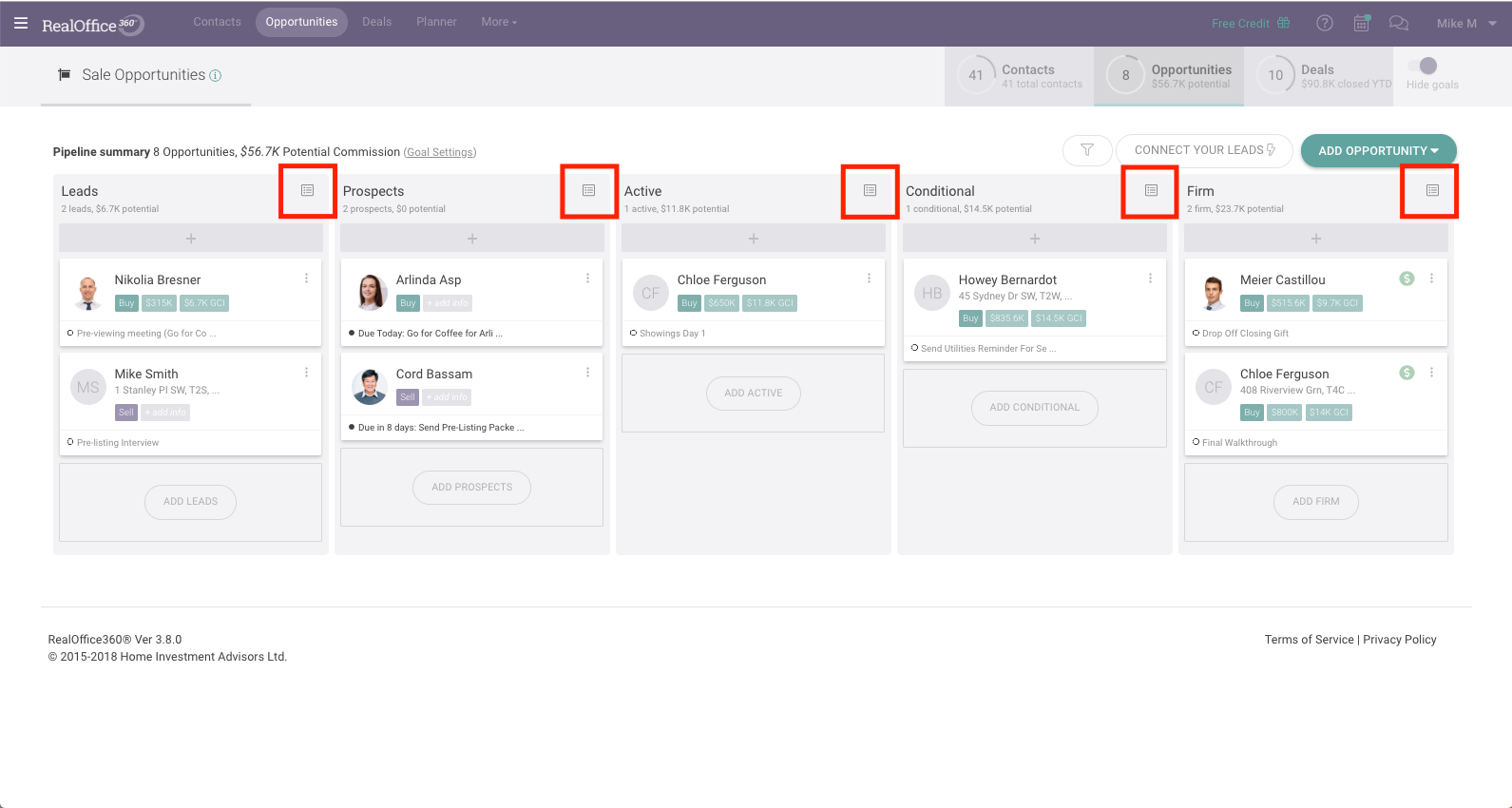 Customize Checklist on Opportunity Tracker RealOffice360