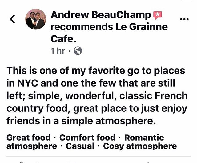 Thank you Andrew, #frenchtoast #crepelife #datethiscity #datescountnyc #steakaupoivre #chocolate #wine #tartine