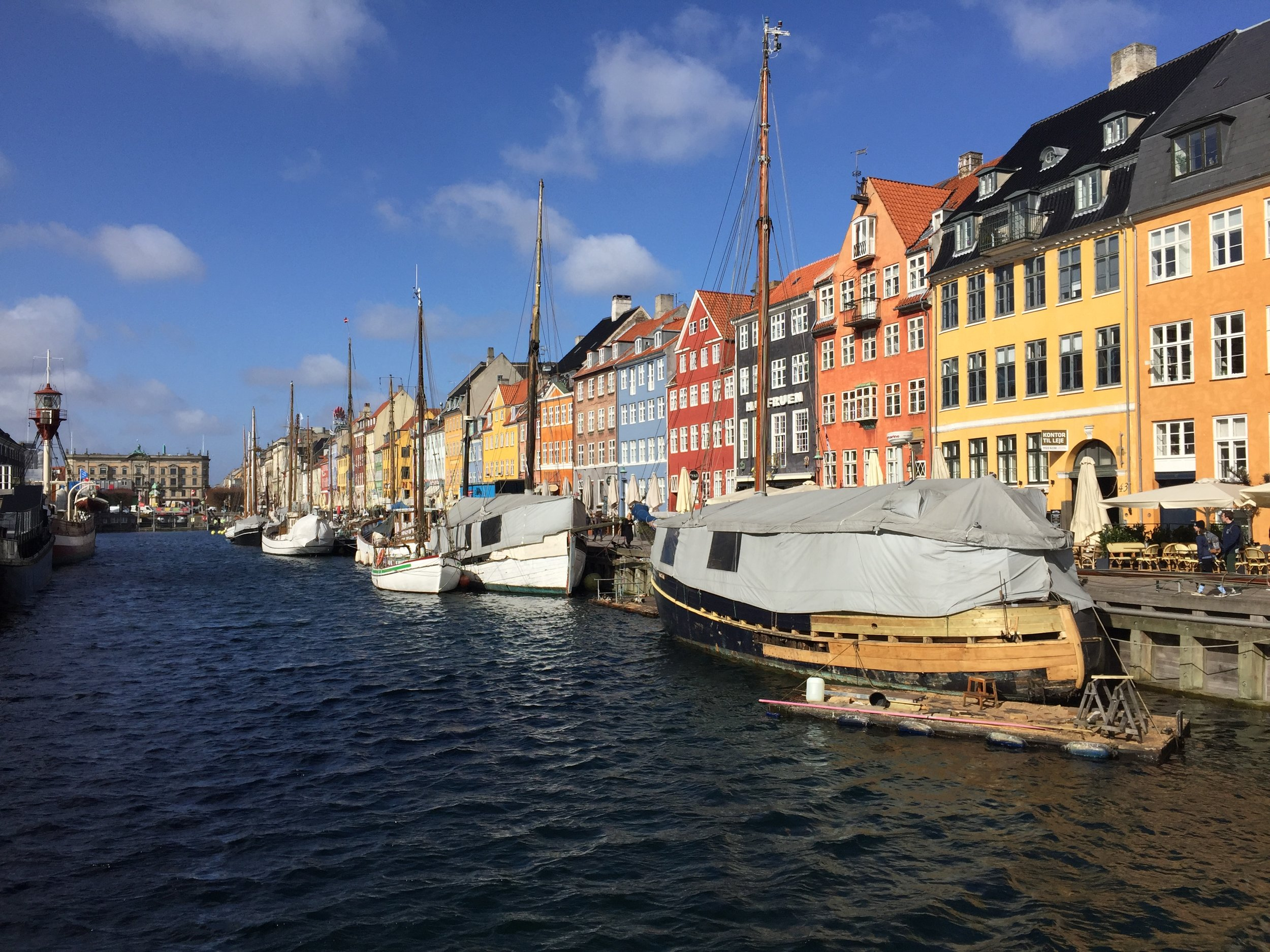 Nyhavn, a 17th-century waterfront, canal.