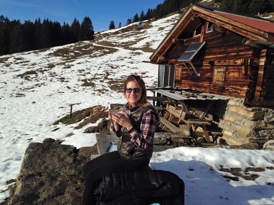 Snowshoe trek in Chamonix France, to Fiz Massif