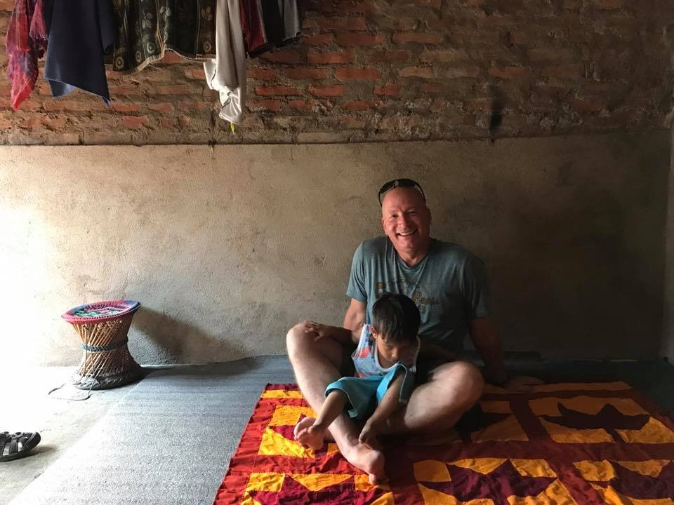 Visiting a family in Kathmandu