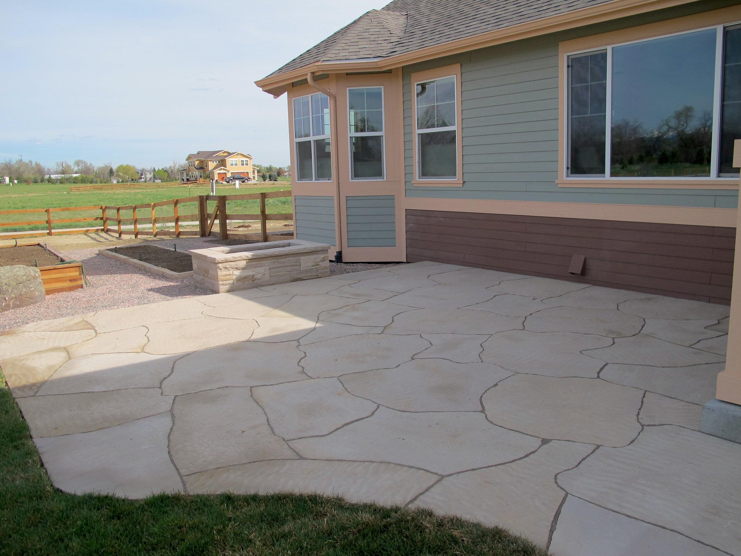 rock patio designs | grouting flagstone patio