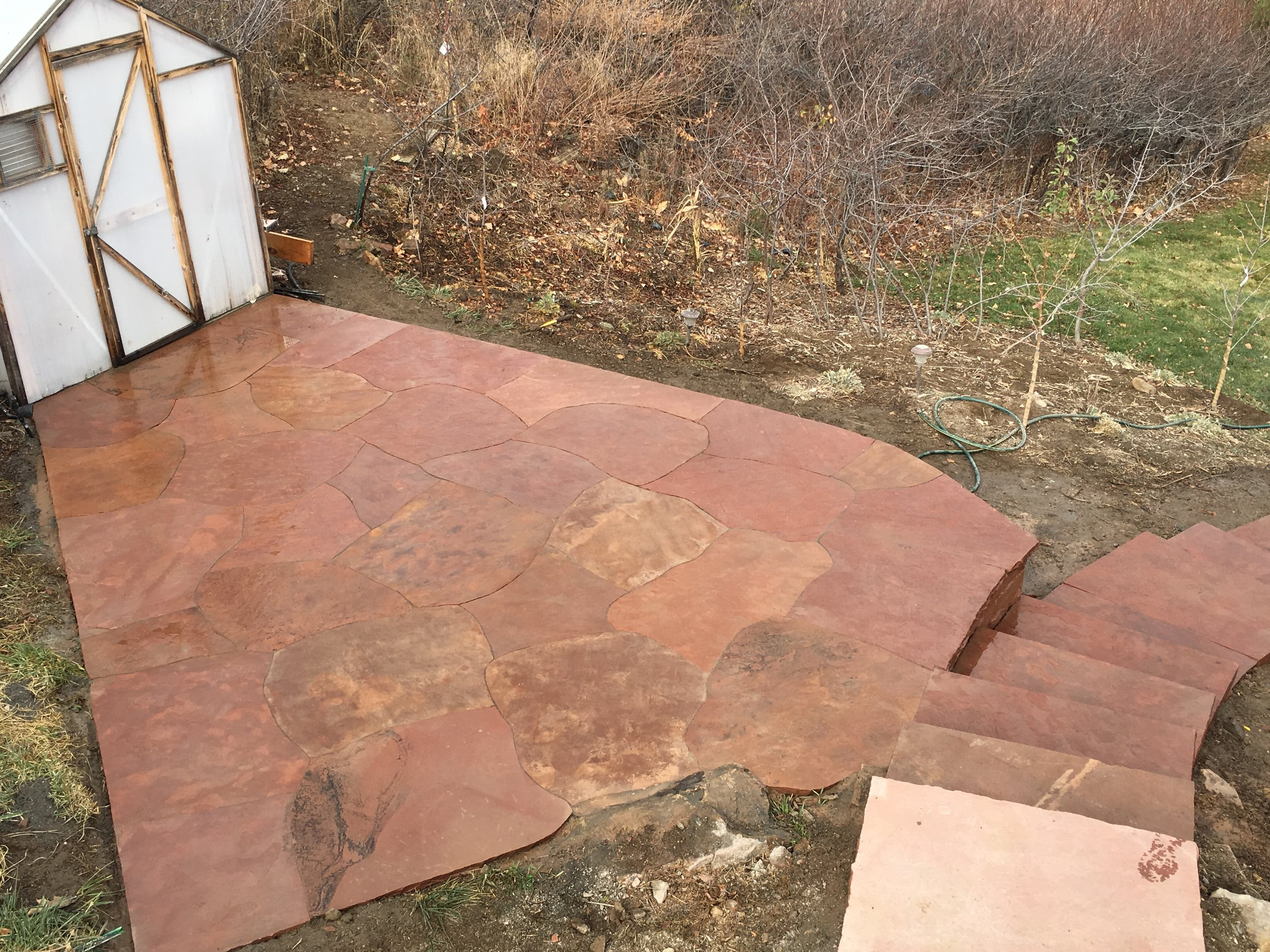 flagstone stairs | boulder stairs