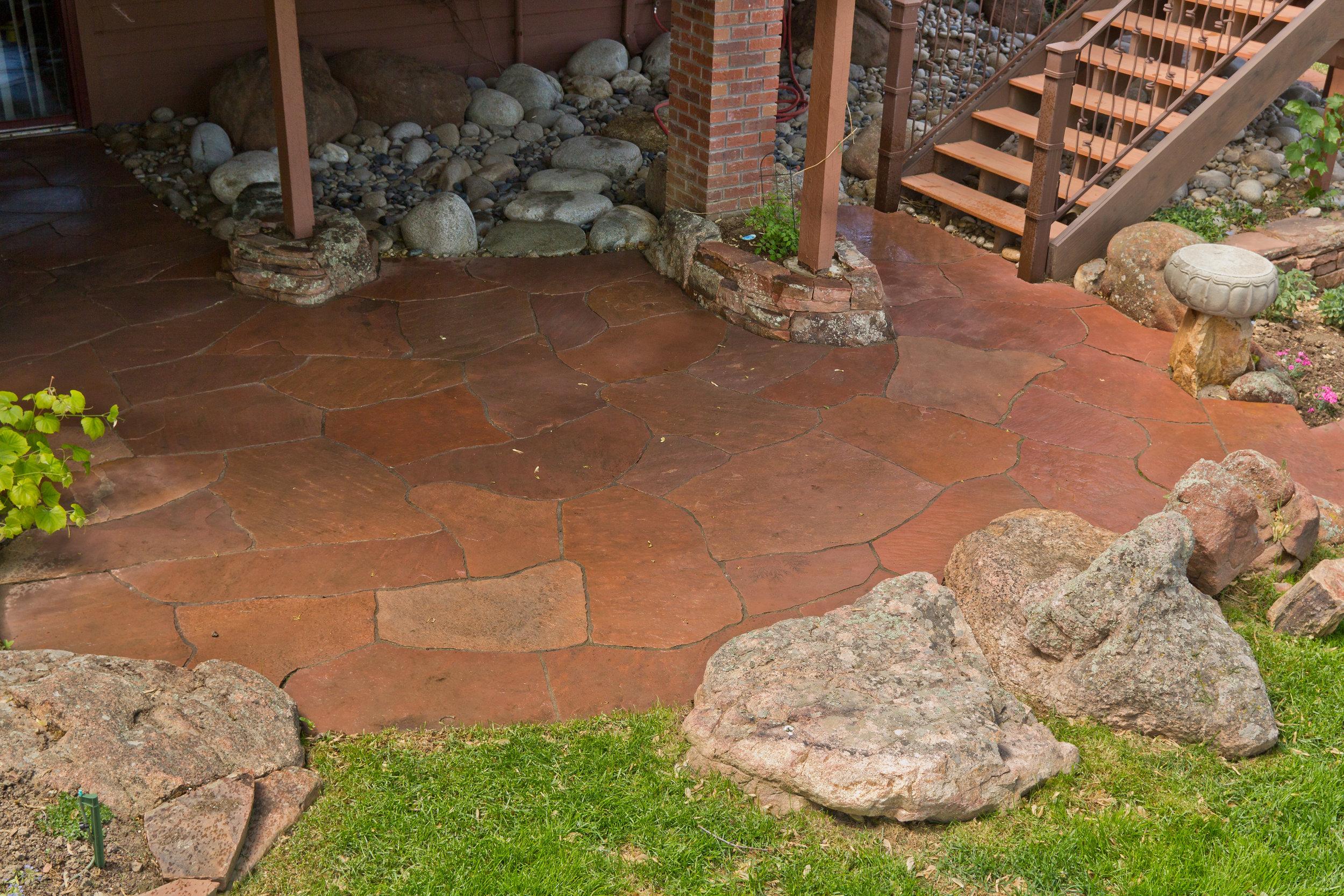 rock patio designs | garden paving cost