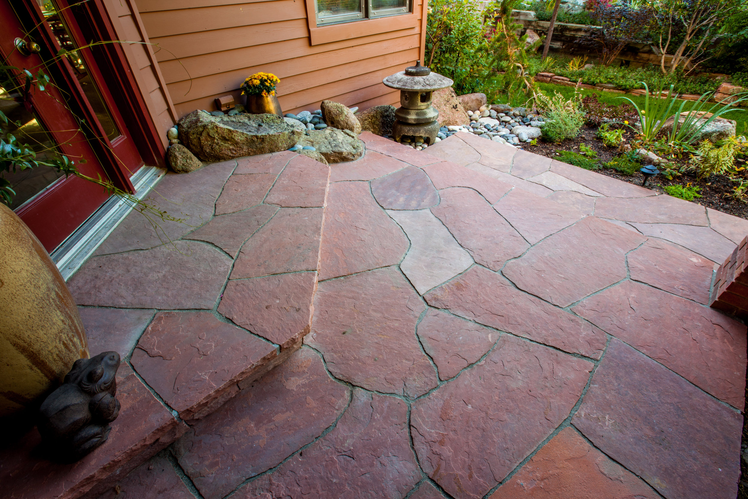 Flagstone Patio Rock Patio Designs Flagstone Path Emagine
