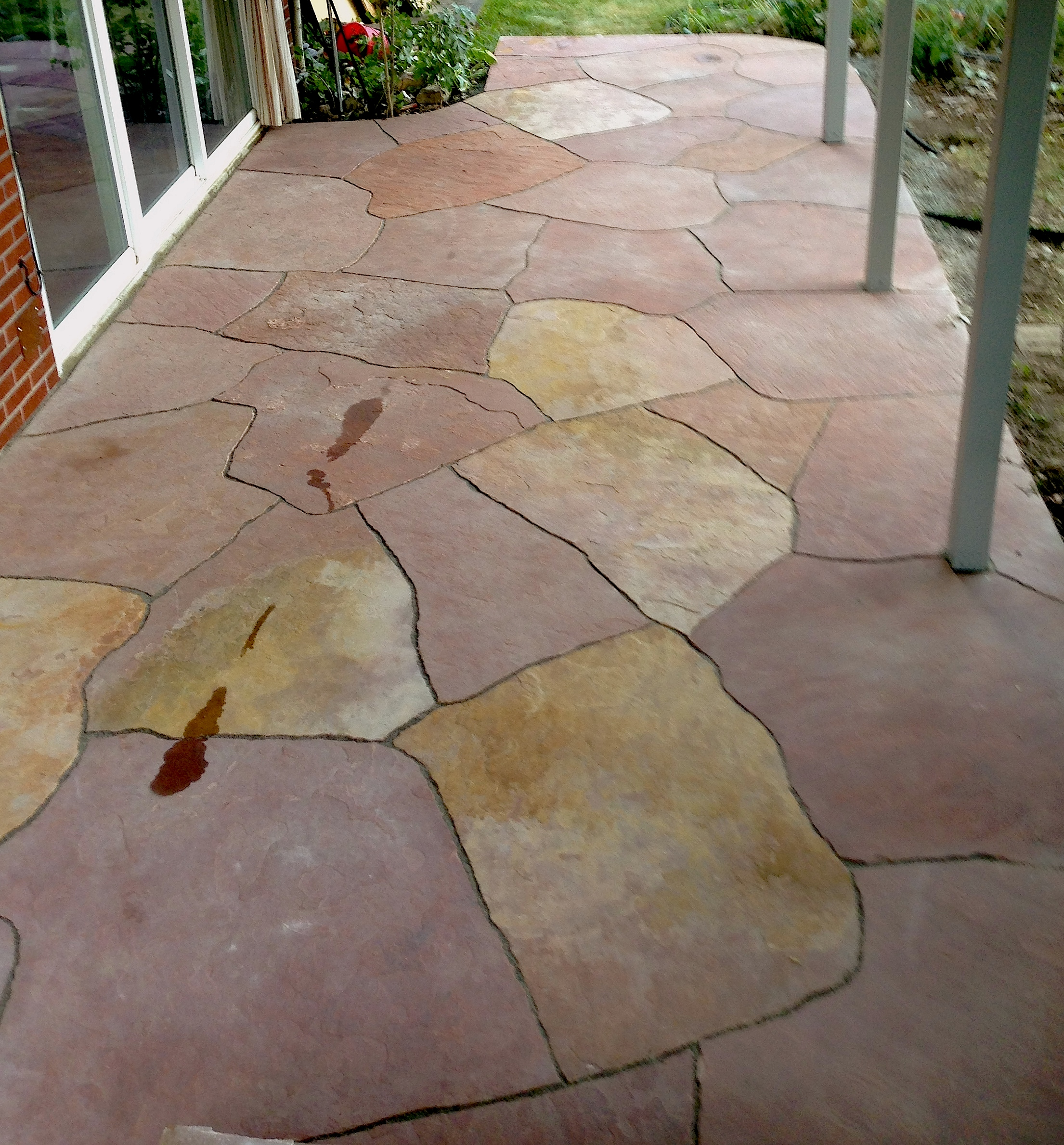 flagstone entryway | stone masonry