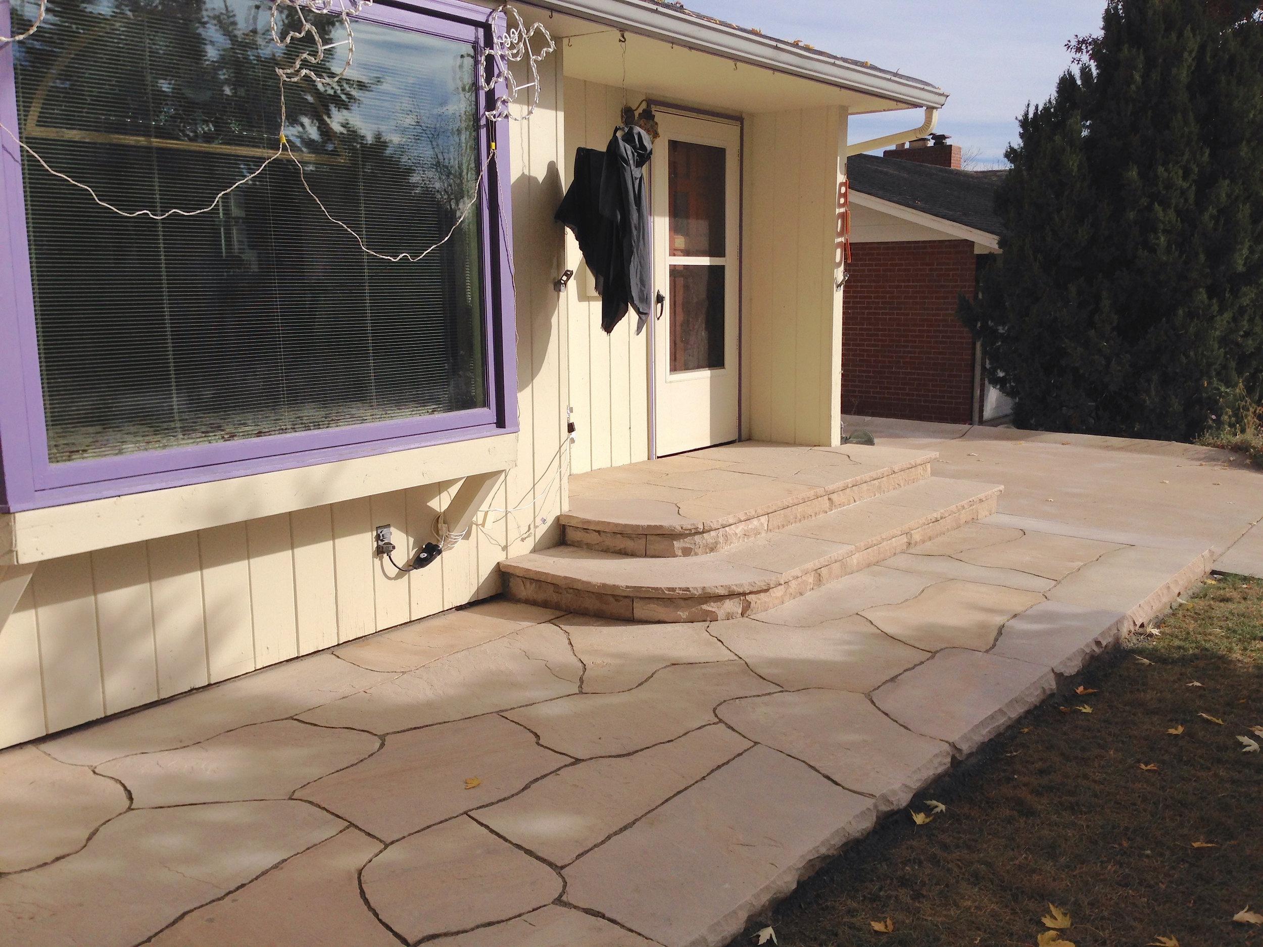 rock patio designs | stone steps cost