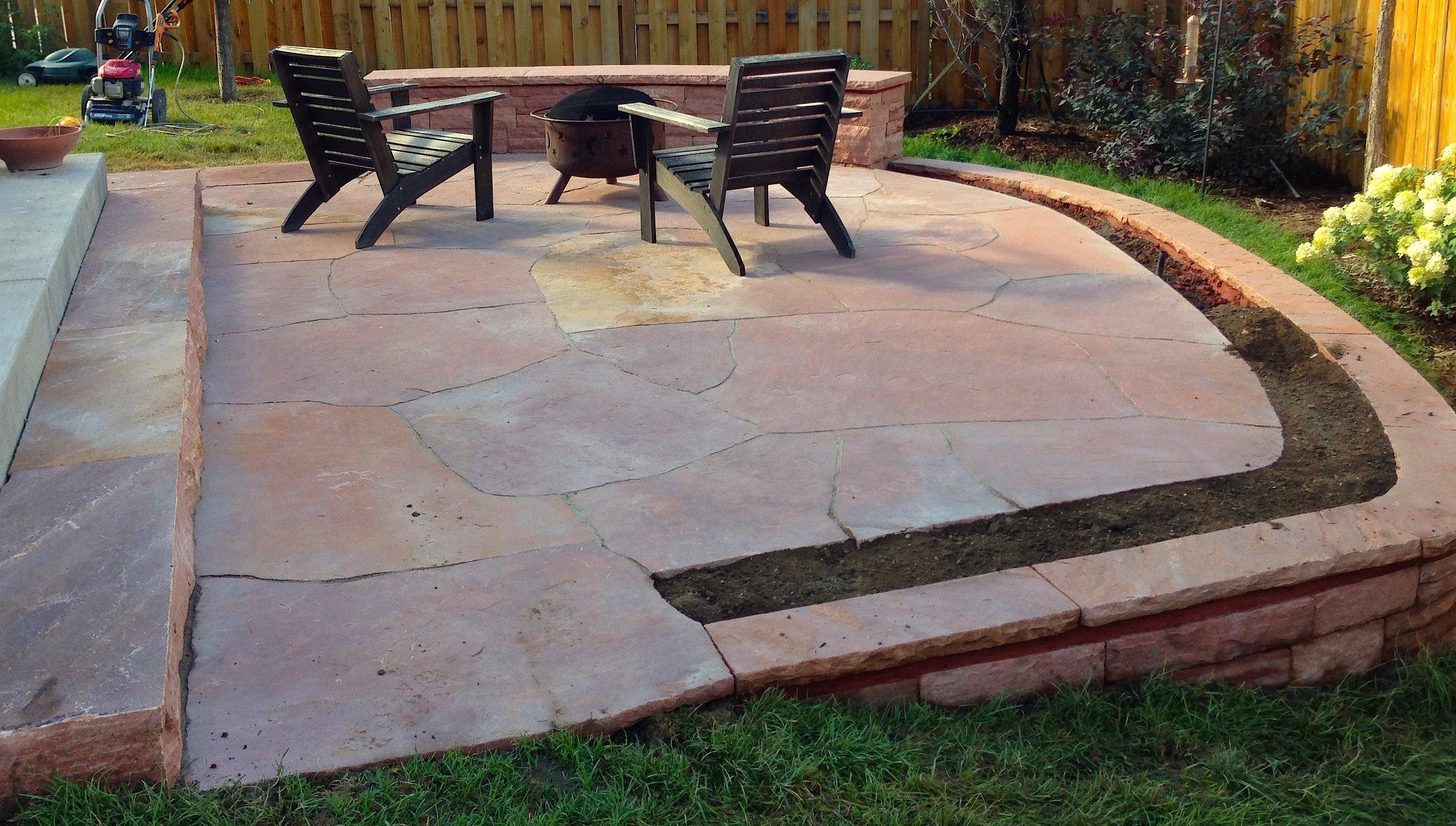 rock pavers patio | rock patio designs