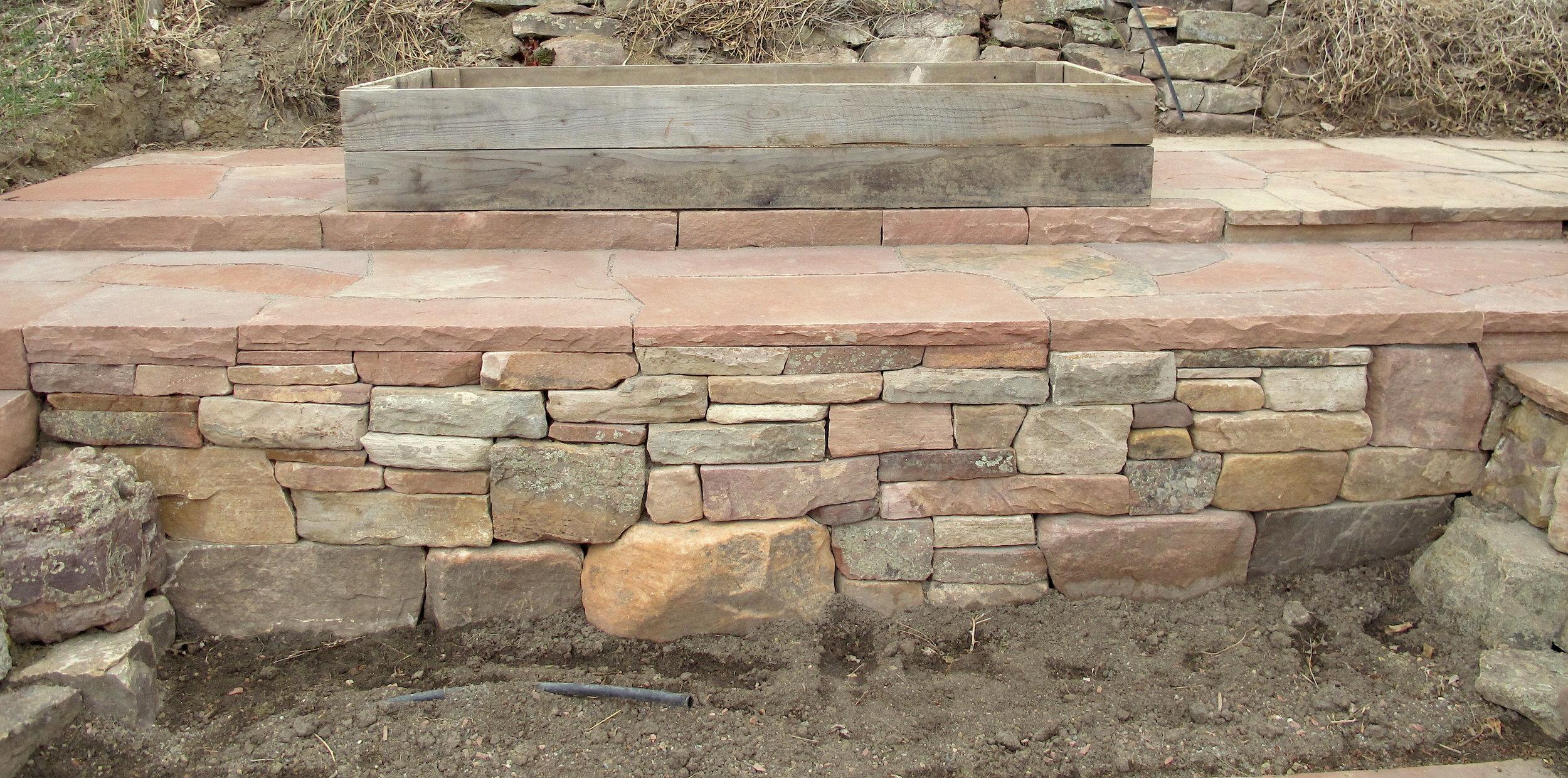 retaining wall blocks | dry stack stone wall