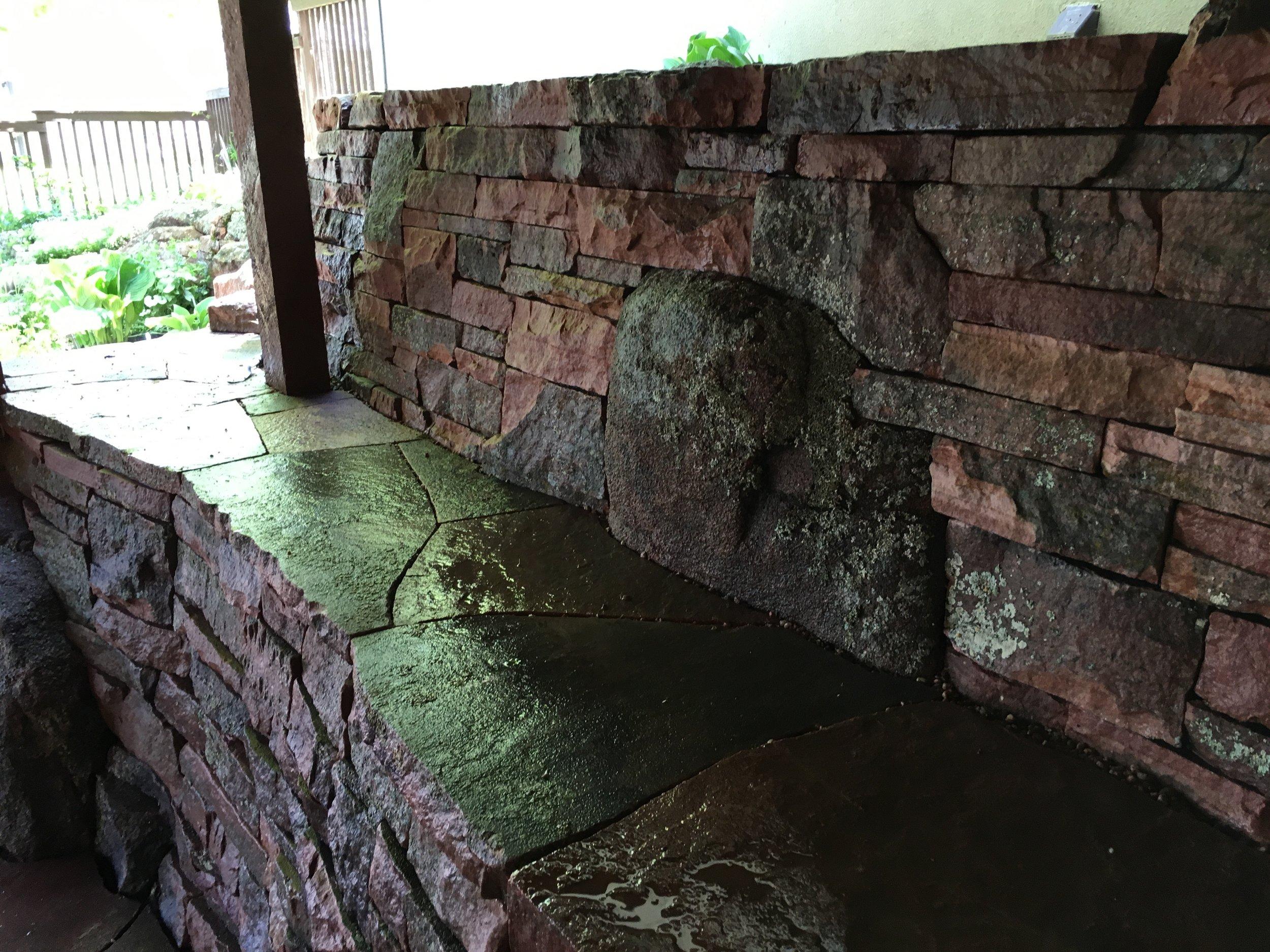 dry stack stone wall | flagstone longmont