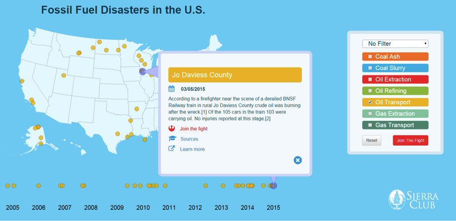 Fossil Fuel Disasters in the United States: 2005-2015