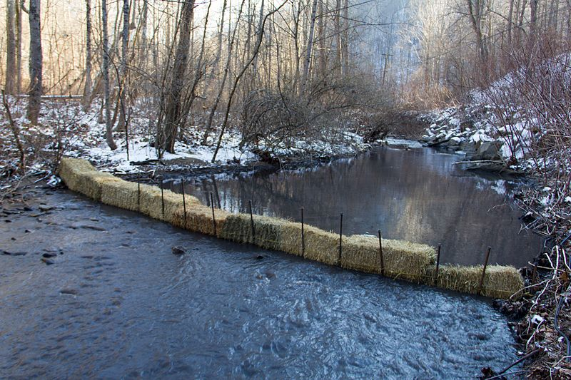 Coal slurry spill in West Virginia.  Photo source: Foo Conner via Wikipedia.