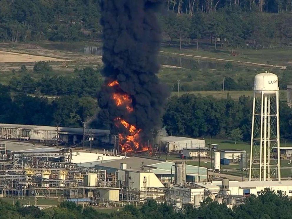 Arkema Plant Explosion.  Photo Source: ABC News/KTRK.