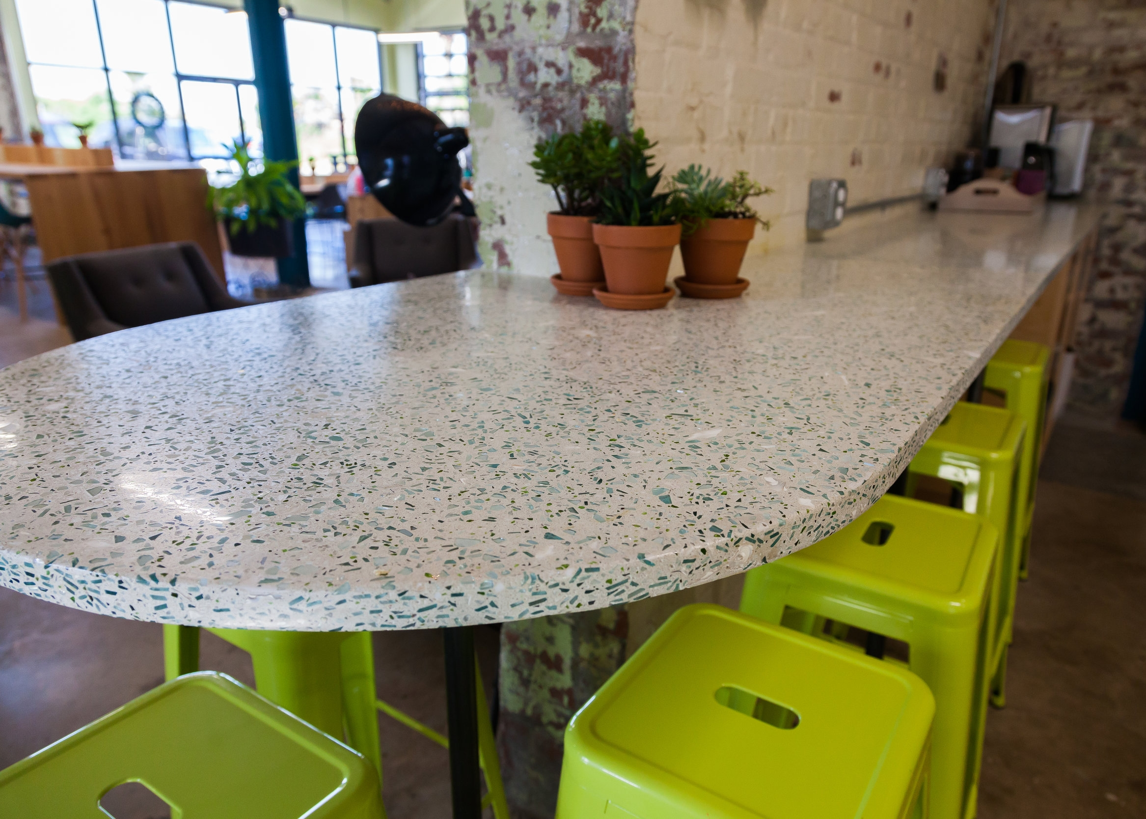 Creative commercial work surface and reception desk in Charleston, SC