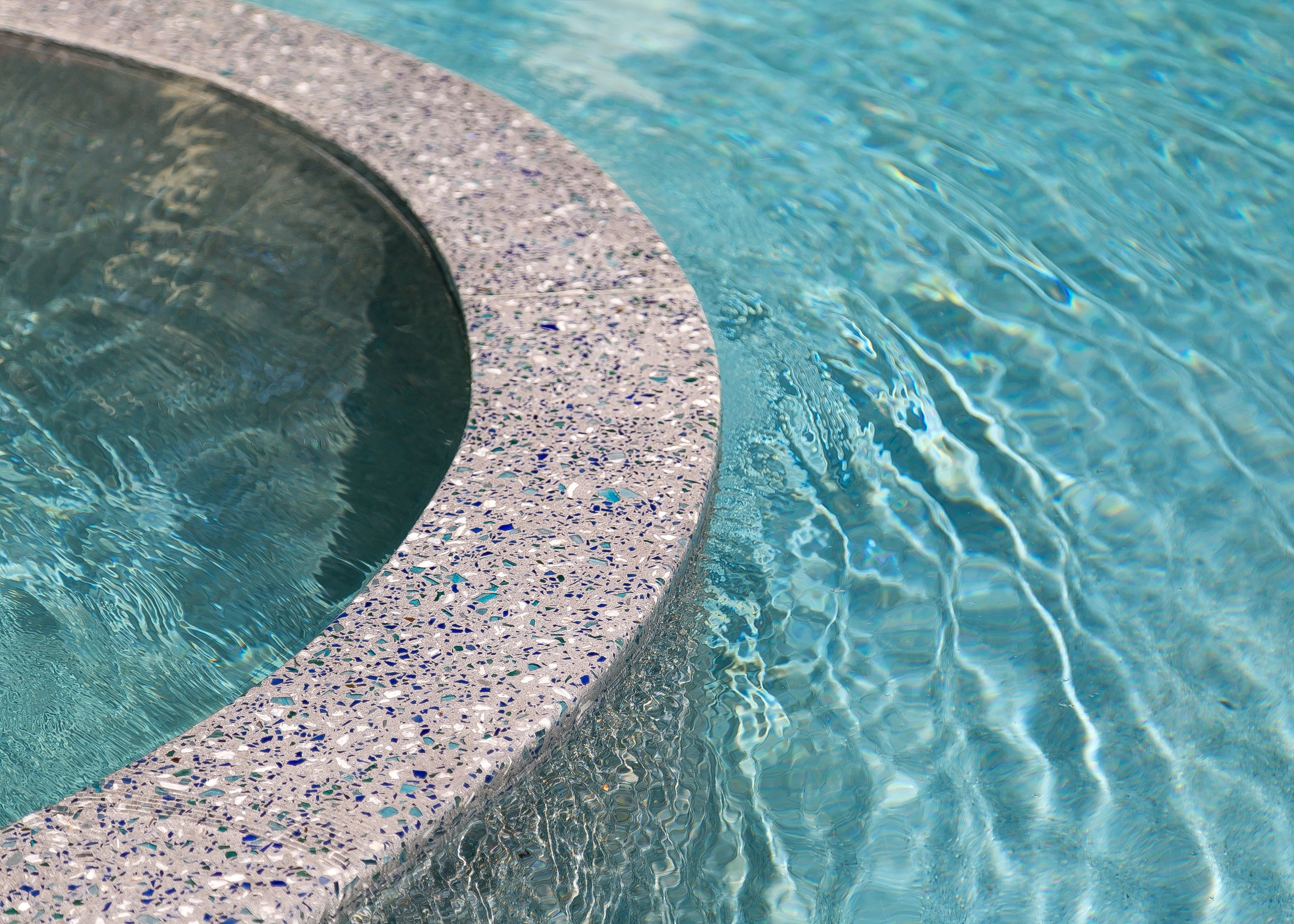 Recycled Glass Custom Pool Surround