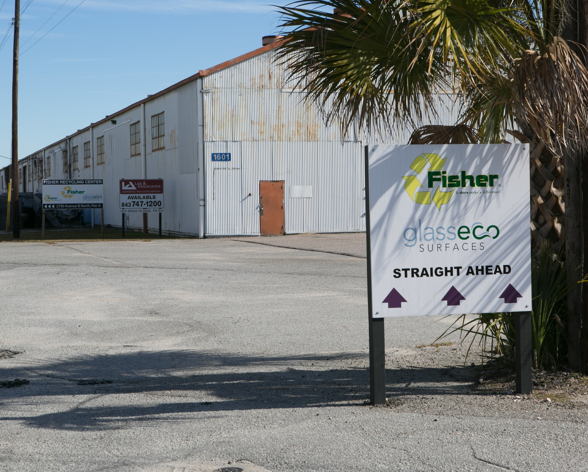 GlassEco and Fisher Recycling Center in North Charleston 2750 Avenue B North North Charleston, SC 29405