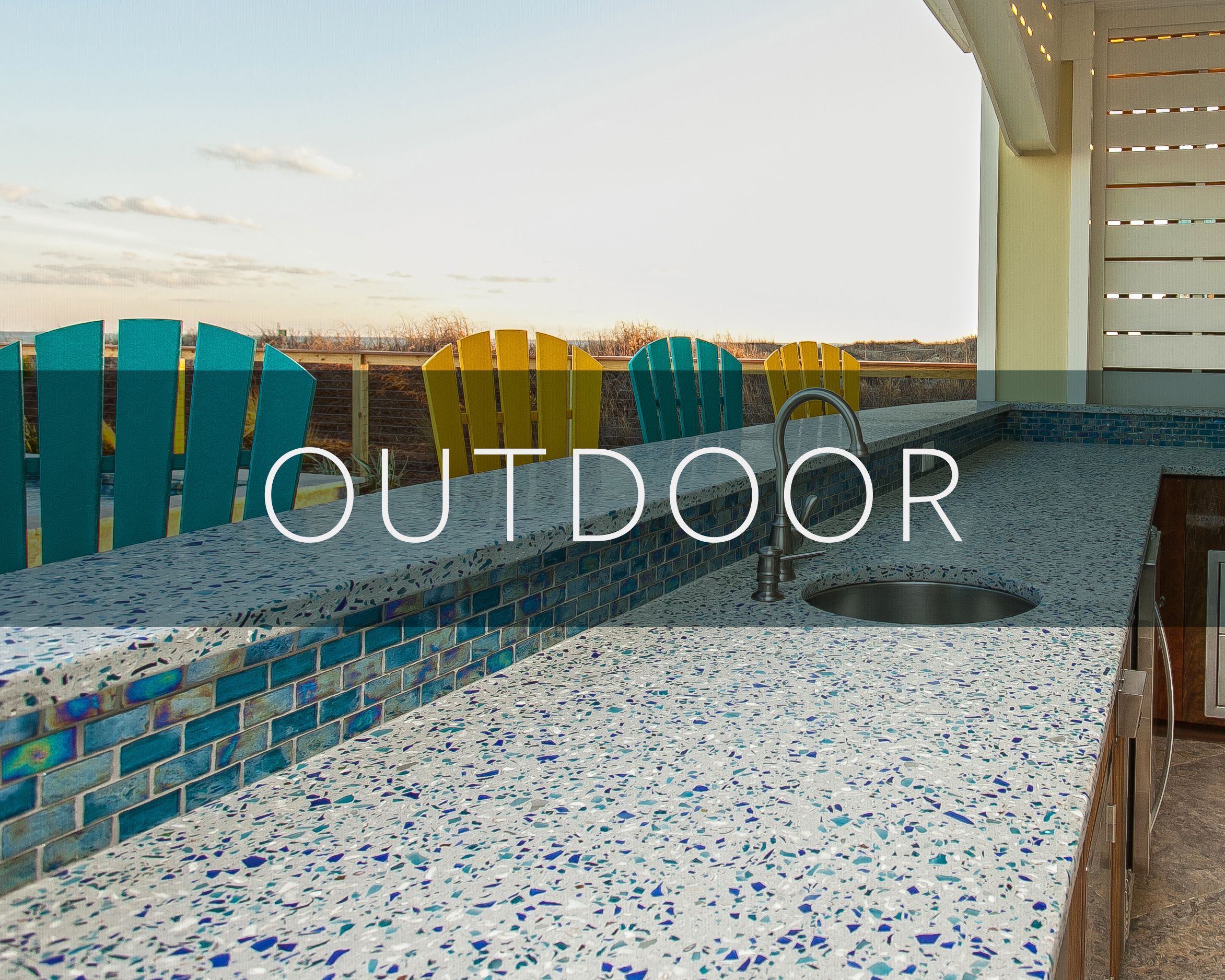 Recycled Glass Surfaces for Exteriors in Charleston, SC