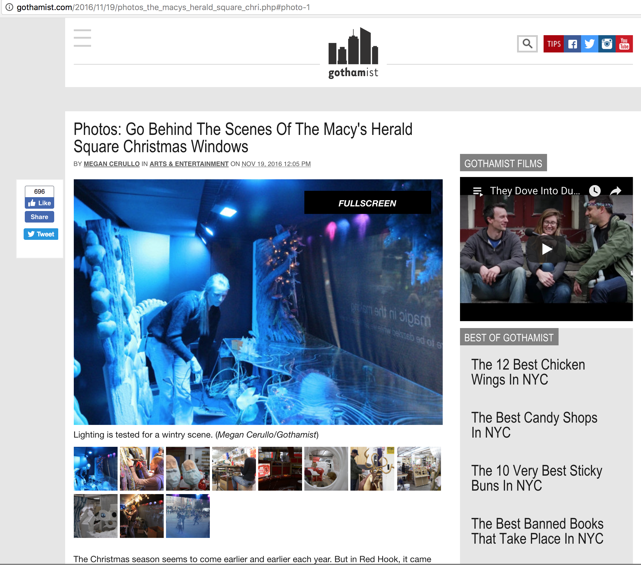 Gothamist - Go Behind The Scenes of The Macy's Herald Square Christmas Windows