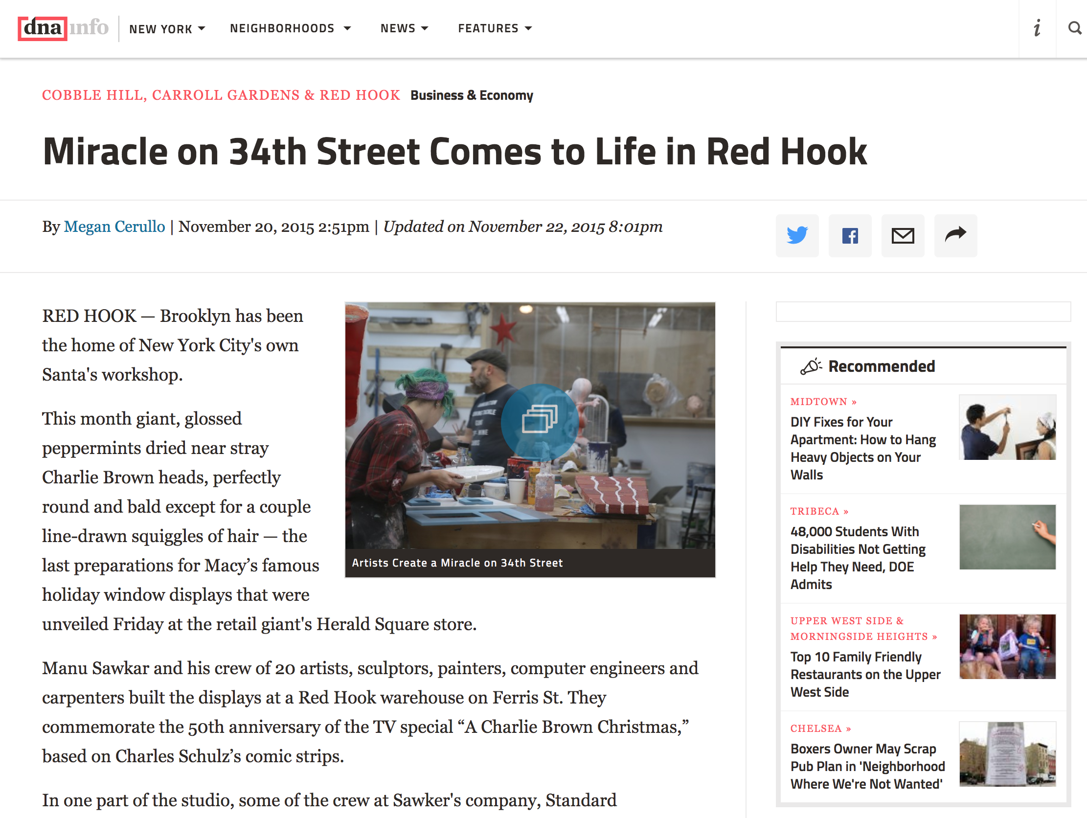 DNA Info - Miracle on 34th St. in Red Hook