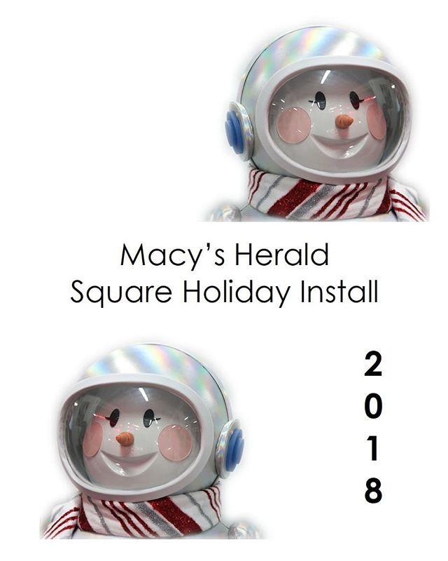 Meet Sunny! She is the star of the 2018 @macys Holiday Windows!!! Come see her adventure blast off on Broadway in Herald Square - Nov 15th 2018 @ 6pm. . . . . #Macys #Macys usual #holiday #holidaywindows #visualdisplay #visual #technology #cheer #sunny #winteriscoming #astronaut #stem #adventure #teaser @roya_windows