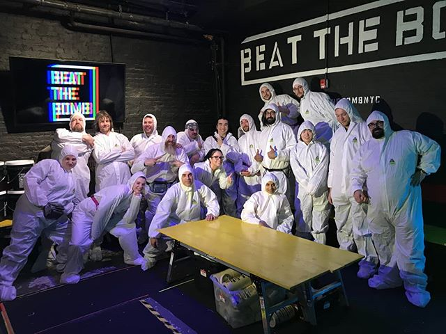 #FBF to that time we beat the bomb and had too much fun team-building. Also Angel in a tyvek...! . . . . #team #brooklynmakers #beatthebomb #fbf #paintbomb #tyvek #funtimes #dumbo #redhookbrooklyn
