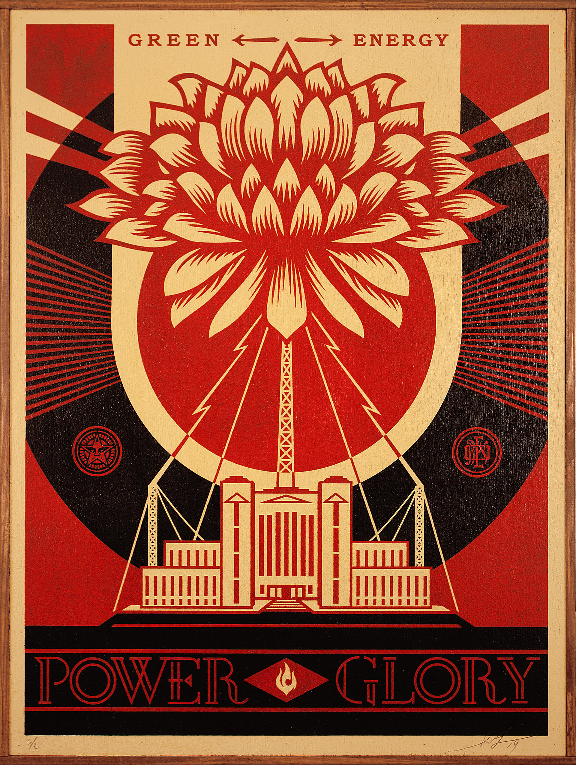 Shepard Fairey - Green PowerPresented by Subliminal Projects - As one of the world's most provocative contemporary artists, Shepard Fairey's career is founded on the ability to create powerful visual imagery coupled with rousing calls to action. Green Power is a selection of works curated especially for Creating Equilibrium from the environmentally themed Earth Crisis exhibition in Paris last year, which was an extension of his groundbreaking Earth Crisis Globe installation at the Eiffel Tower in 2015.  Green Power presents select pieces from that series and related works in silk-screen on wood panels to the Lake Tahoe area for the first time.