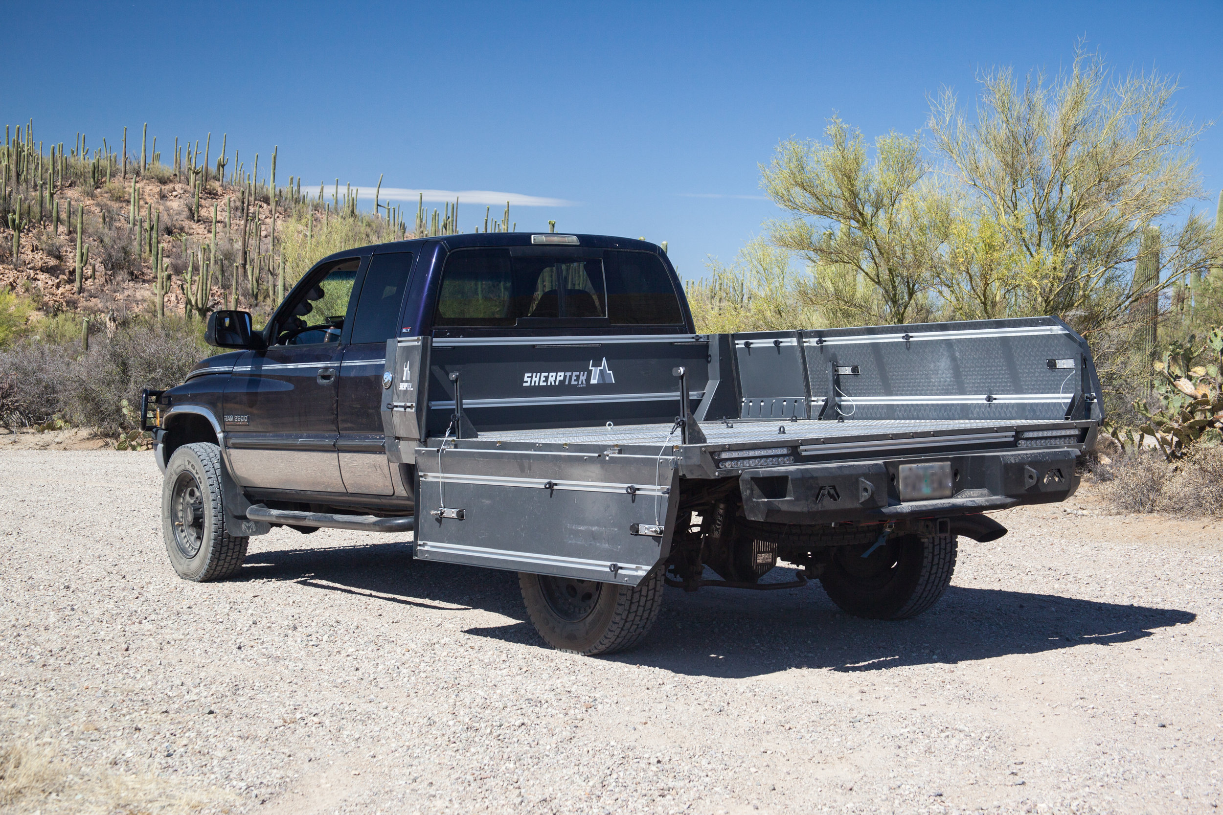 Ram truck with modular truck bed replacement system: the ultimate gear-hauling solution for your pickup truck.