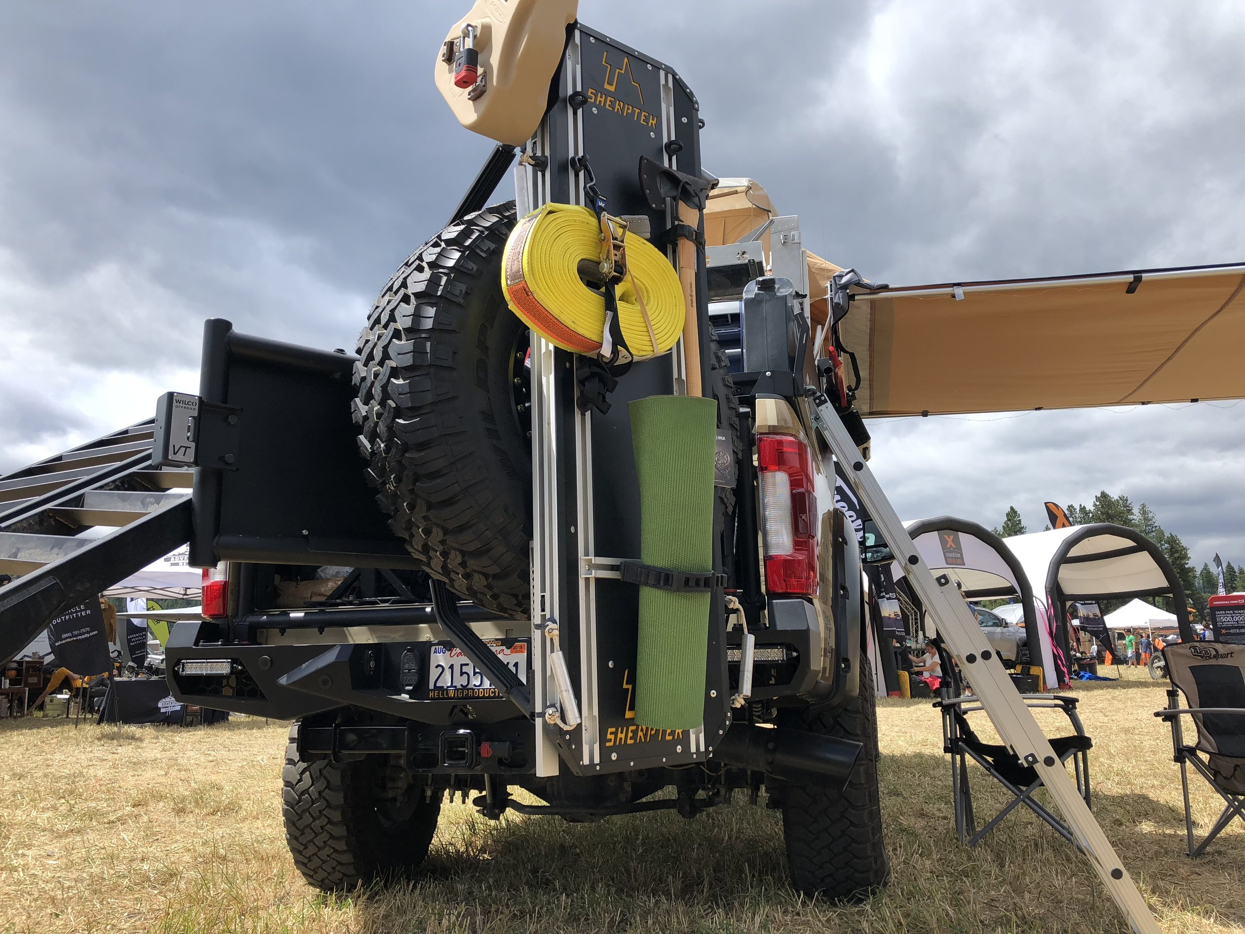 Ultimate gear-hauling solution that mounts to any ladder, rack system and hard surface, including your spare tire, and can carry up to 1,000 pounds of gear and supplies