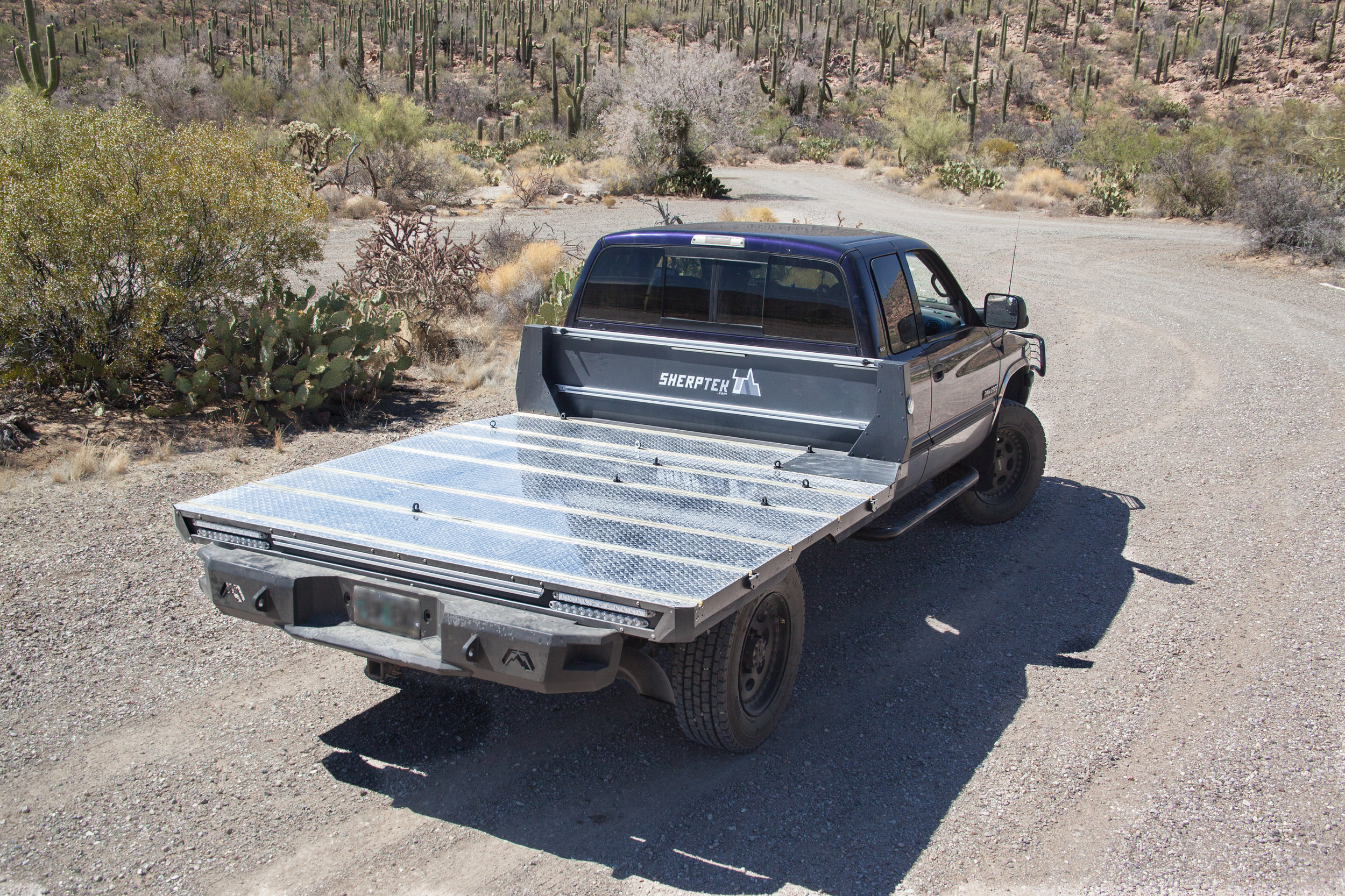 Modular multifunctional truck bed replacement system