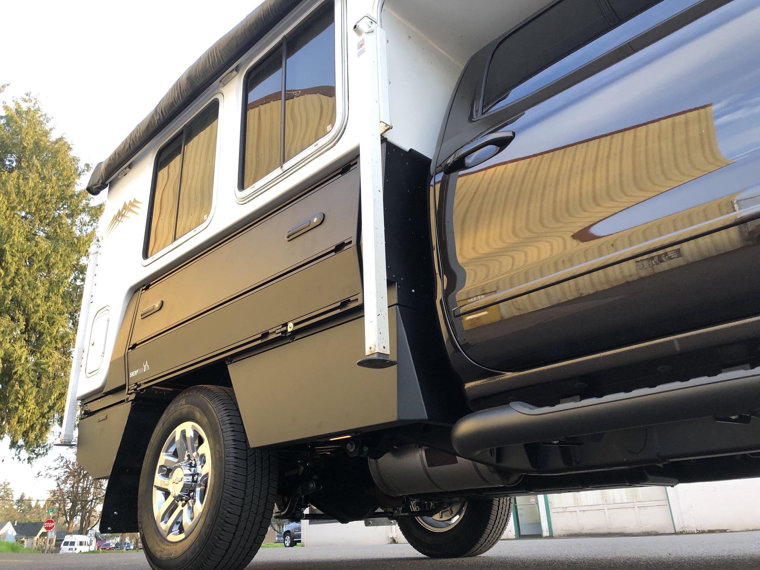 Flatbed system for popup camper
