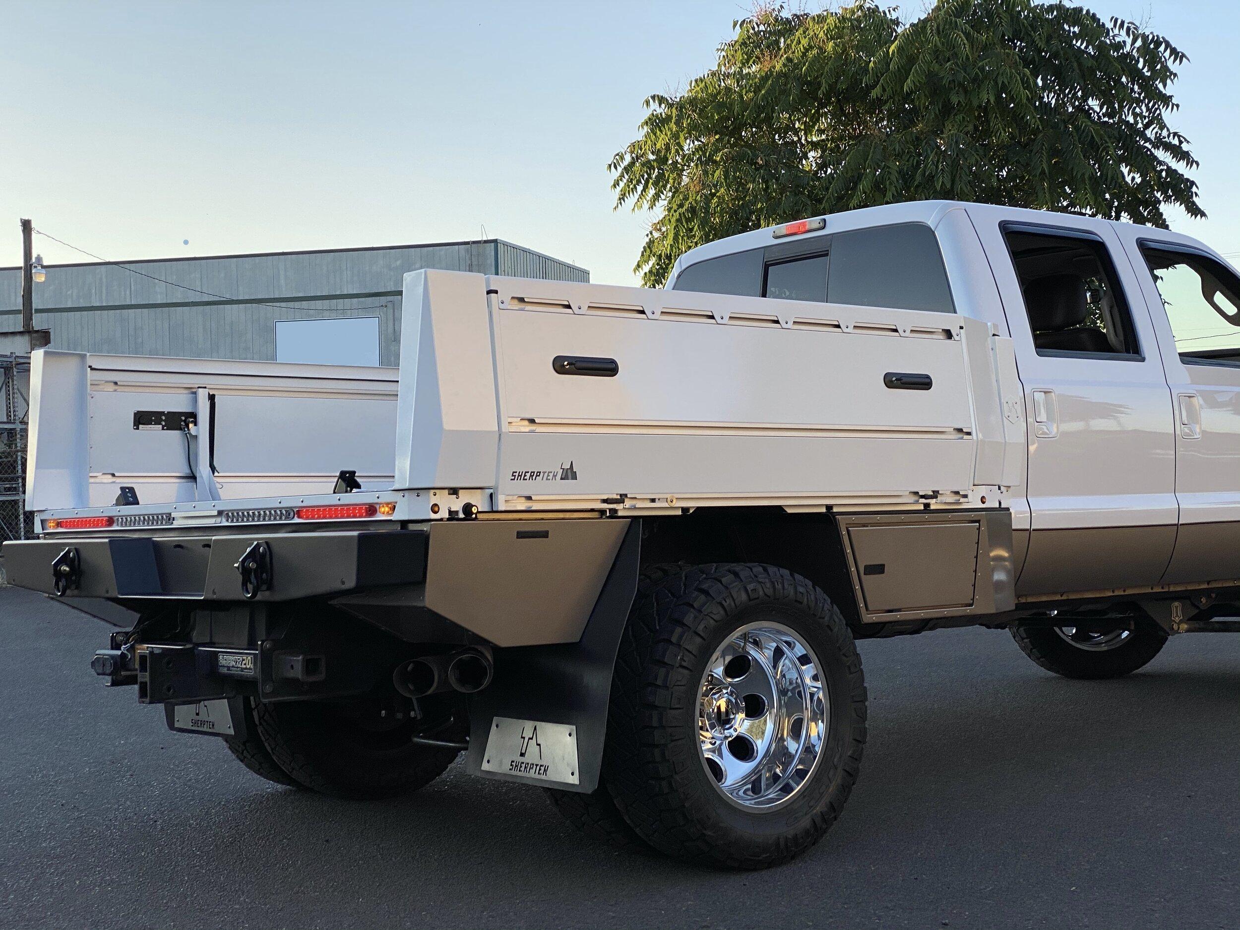 Picture of: Custom Truck Beds Sherptek Sherptek Custom Gear Hauling Solutions Flatbeds Truck Decks And Truck Trays