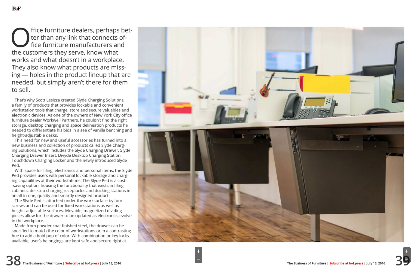 Slyde Ped Featured in Business of Furniture