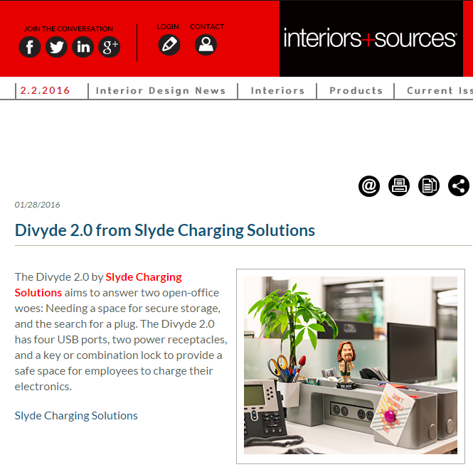 Divyde Featured in Interiors + Sources