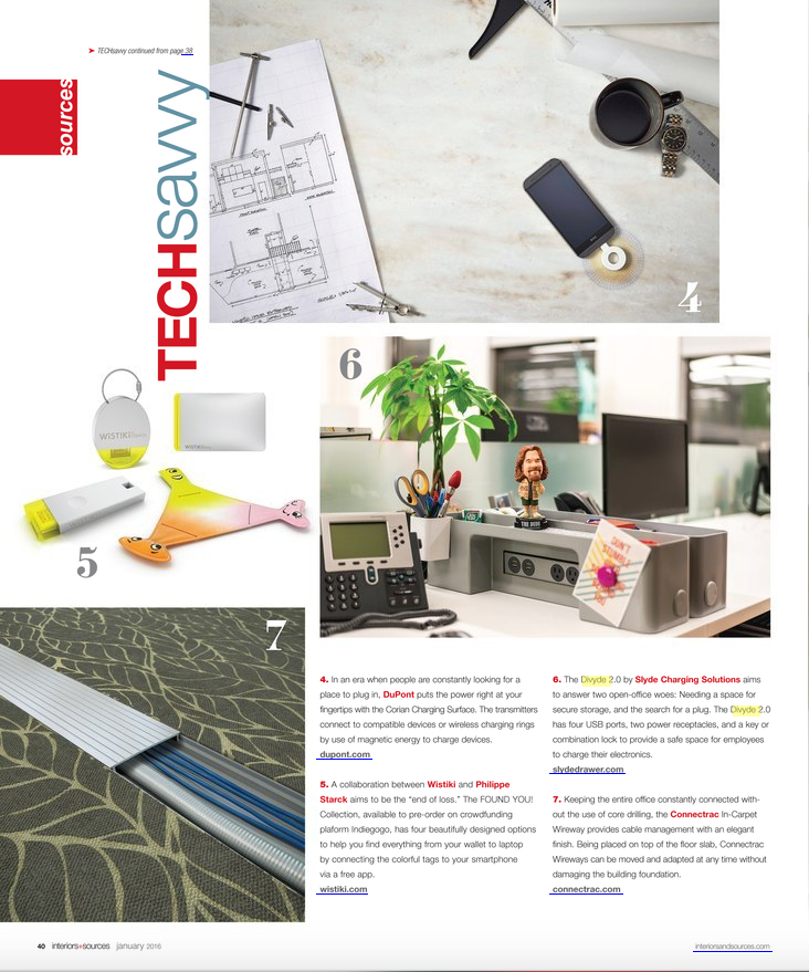 Divyde Featured in Interiors and Sources Magazine