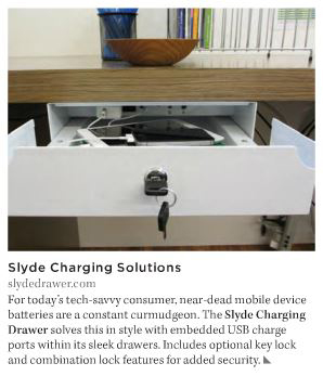 Slyde Drawer Featured in VMSD Magazine