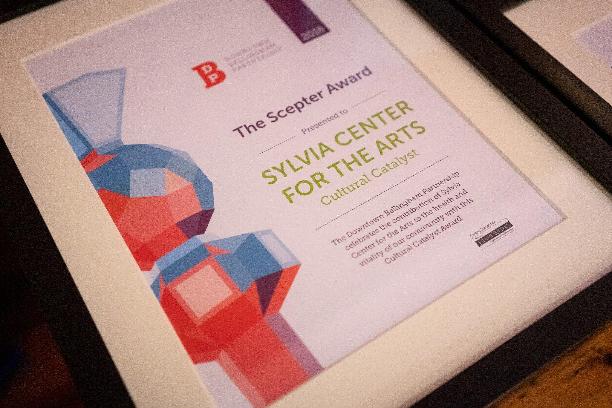 Sylvia Center For the Arts Scepter Award.jpg