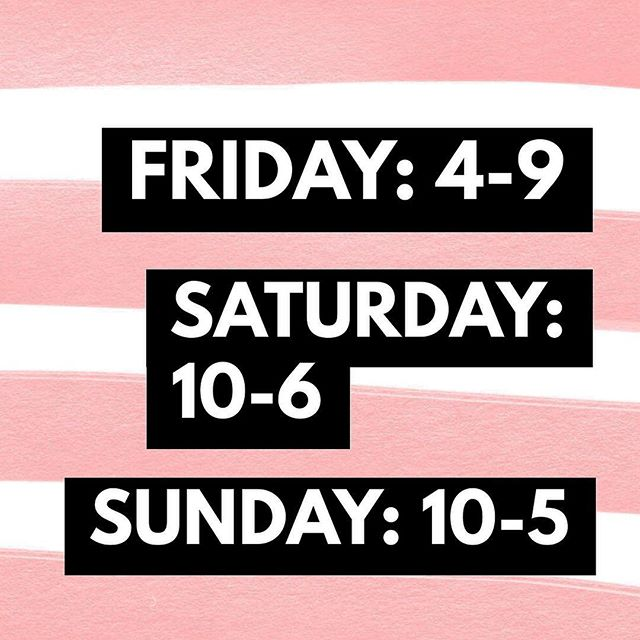 THIS Friday, Saturday, + Sunday! 💗 Here we GO!!! The party is JUST starting 🌸#vancitywomensexpoandpopup