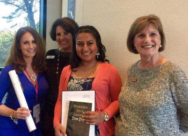 "Sandra Castro receiving ""La Guerrera"" scholarship from BB&T."