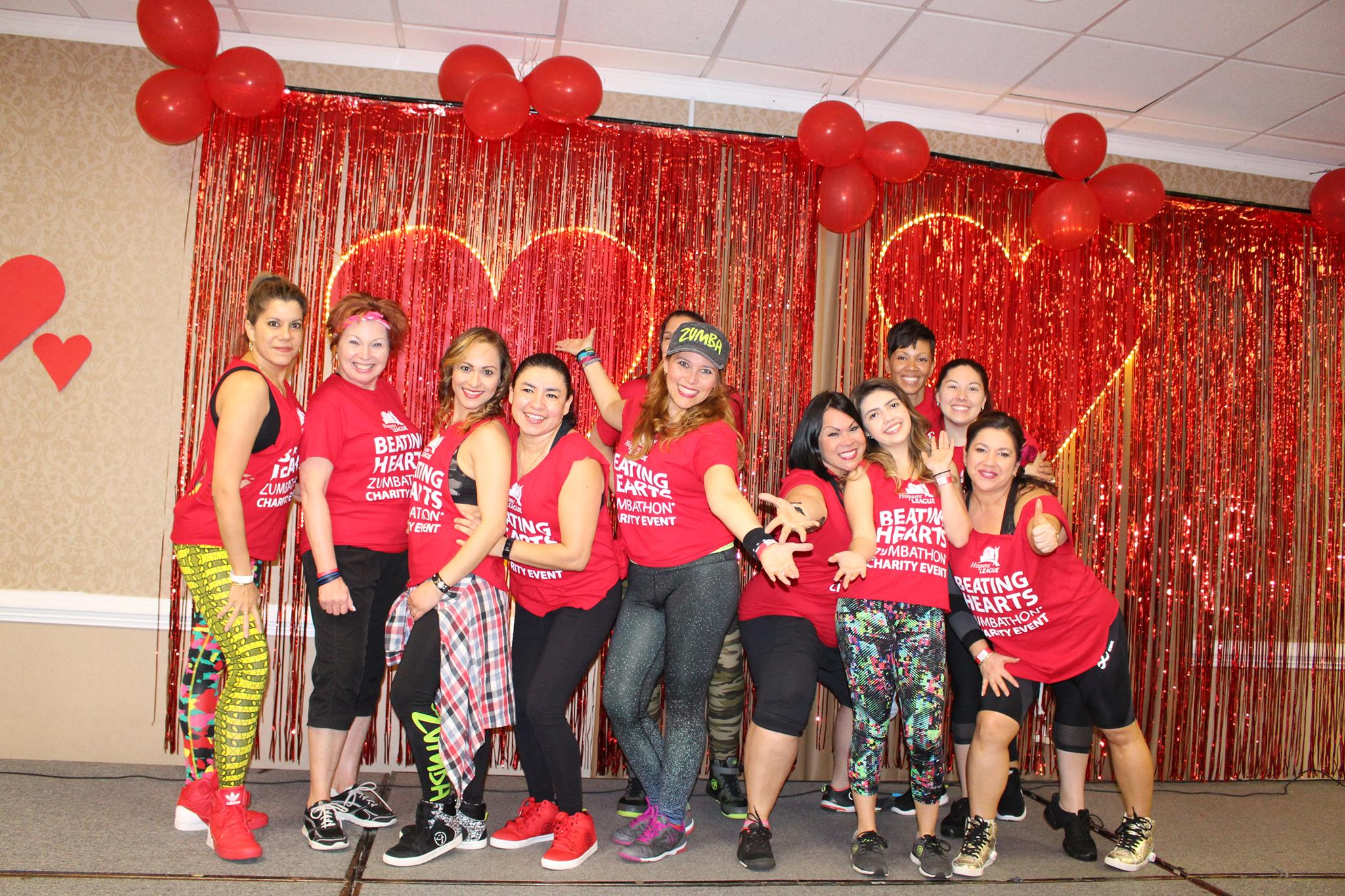 Participants in the Zumbathon of 2017