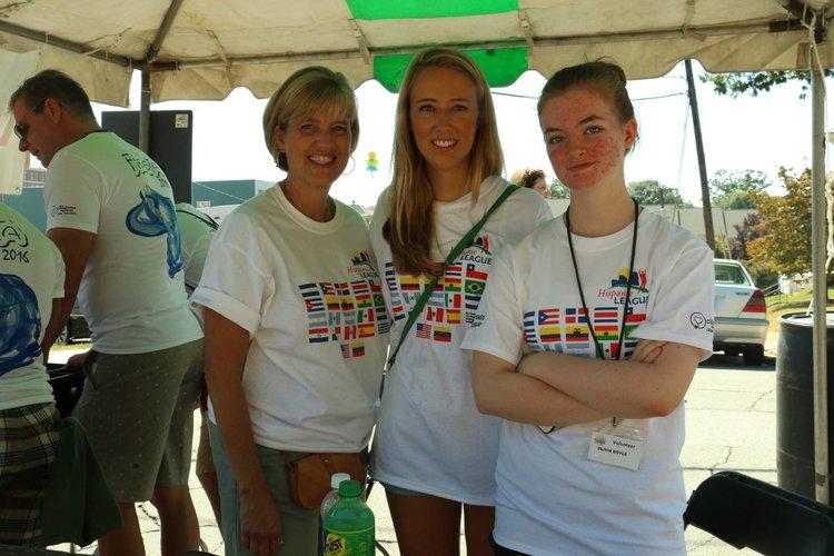 Volunteers at the 2016 Fiesta event