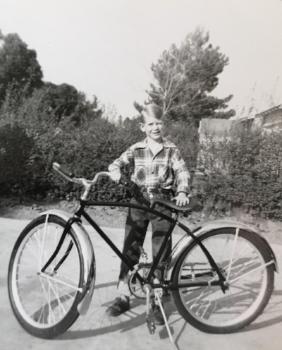 Dad, with the bike he rode to Griffith Park.