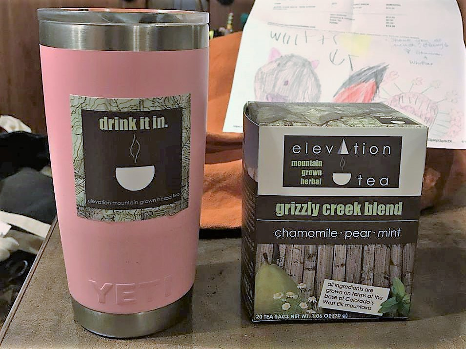 Kenny and I just had our first cup of Grizzly Creek Blend-non stevia. It is so delicious and calming with it's blend of chamomile, pear and mint! We are so proud of our niece, Shannon and her family!   - -patsy