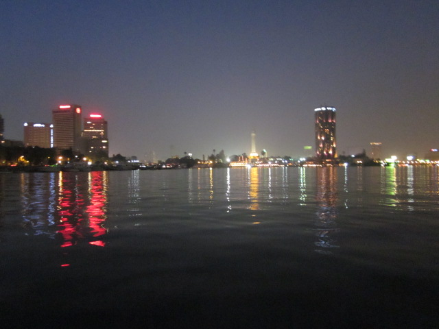 nile at night, cairo