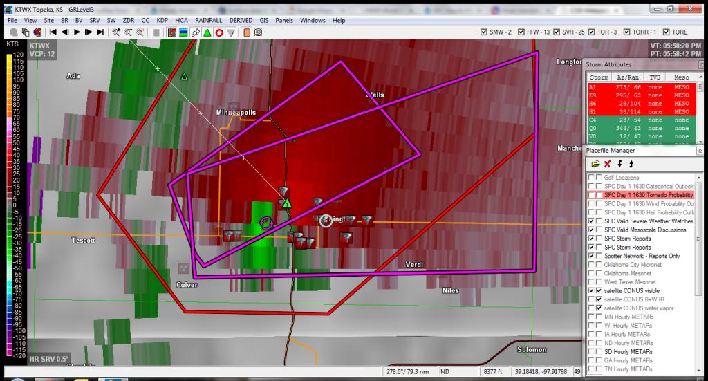 Bennington, KS Radar3